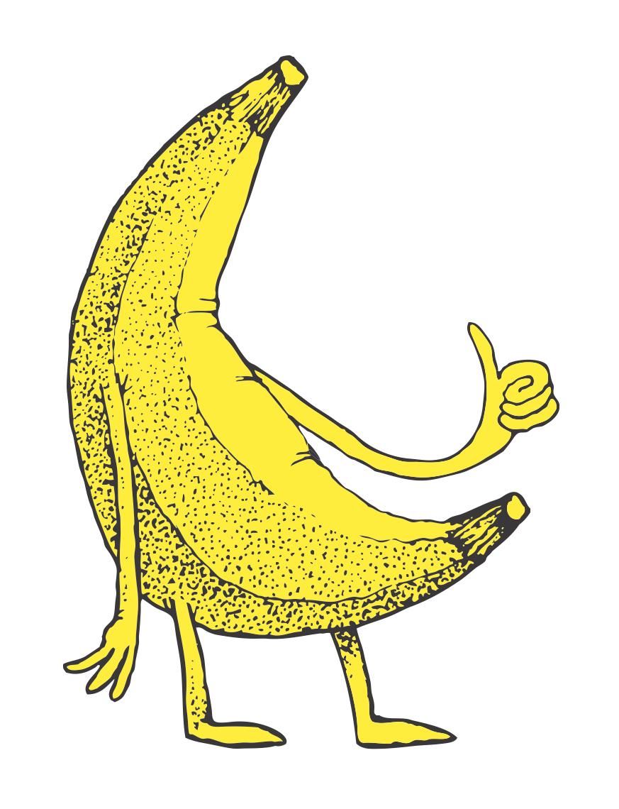 banana stand media logo large white